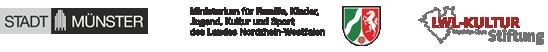 Logos: Stadt Münster | Ministerium für Familie, Kinder, Jugend, Kultur und Sport des Landes NRW | LWL Kulturstiftung