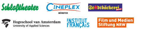 Logos: Schloßtheater | Cineplex | Stadtbäckerei | Hogeschool van Amsterdam | Institut Français | Filmstiftung NRW